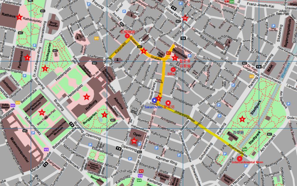 維也納逛街地圖
